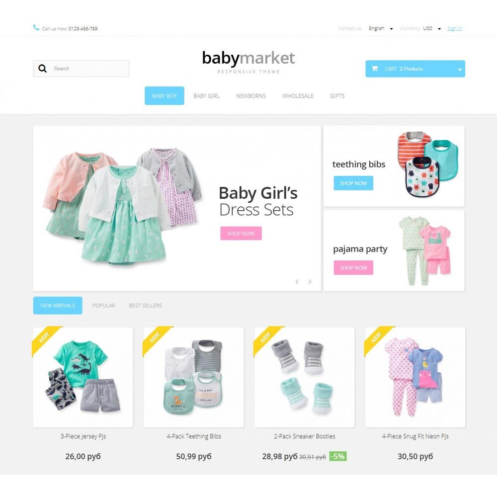 theme - Bambini & Giocattoli - Baby Market 1.6 Responsive - 2