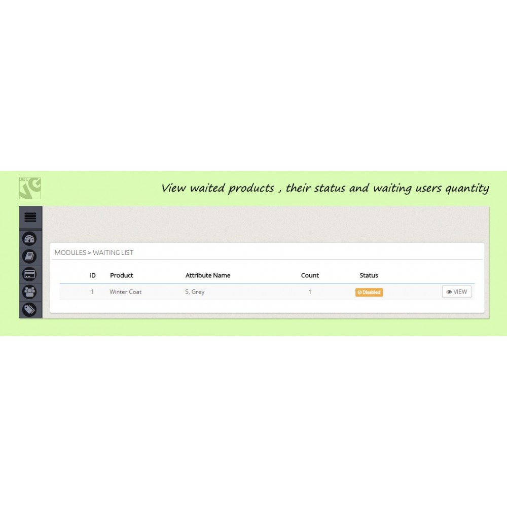 module - Anmeldung und Bestellvorgang - Pre-order and Waiting List - 2
