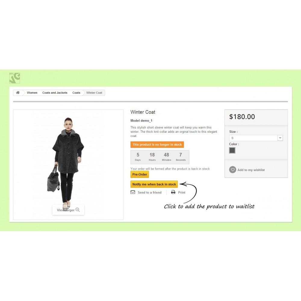 module - Anmeldung und Bestellvorgang - Pre-order and Waiting List - 7
