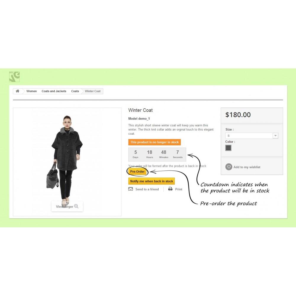 module - Anmeldung und Bestellvorgang - Pre-order and Waiting List - 8