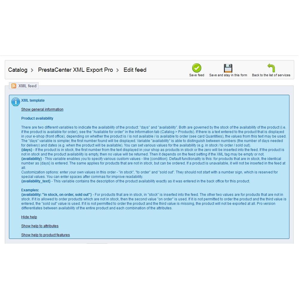 module - Importação & exportação de dados - PrestaCenter XML Export  Pro - 4