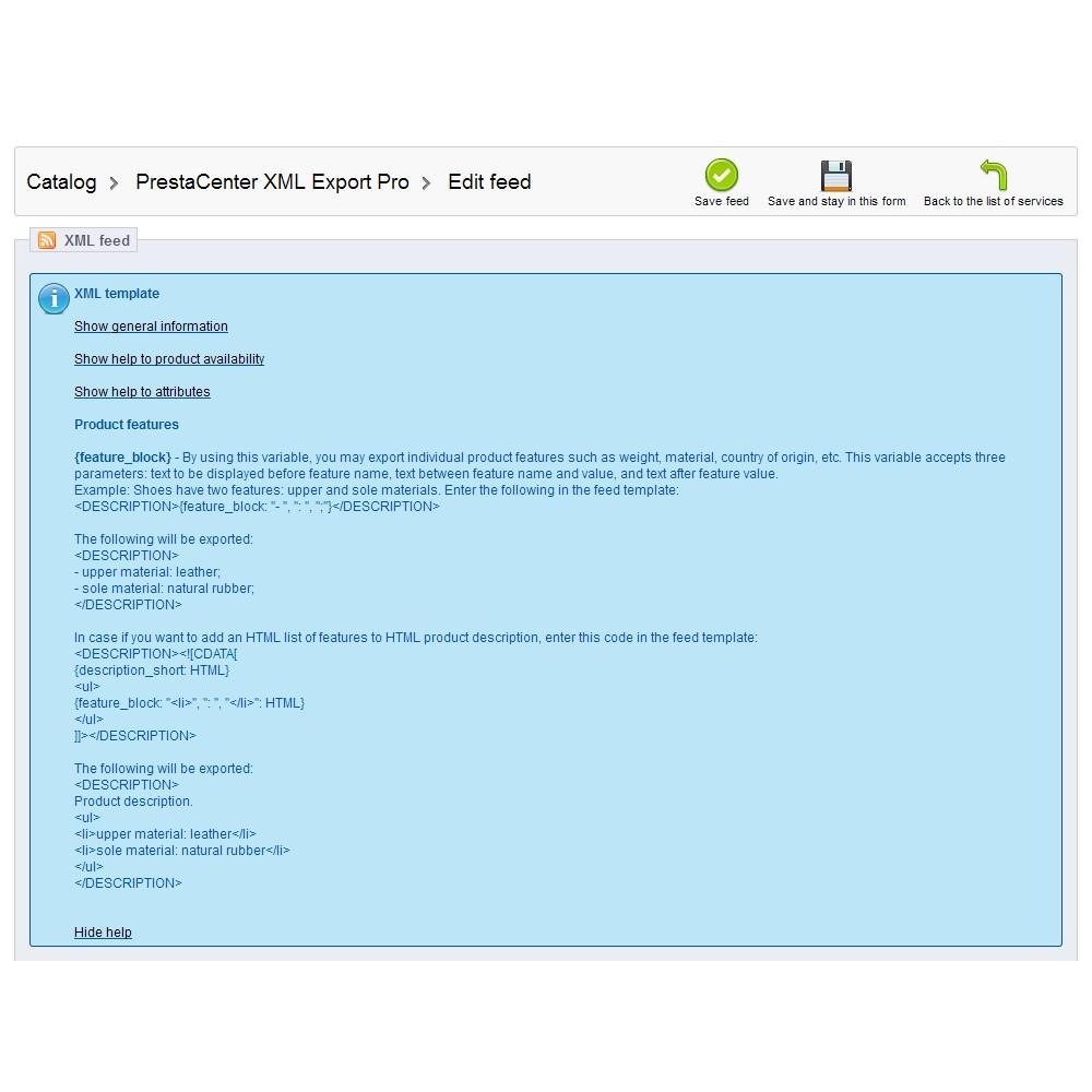 module - Importação & exportação de dados - PrestaCenter XML Export  Pro - 6
