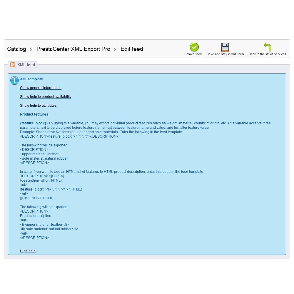 module - Import & Eksport danych (csv, pdf...) - PrestaCenter XML Export  Pro - 6