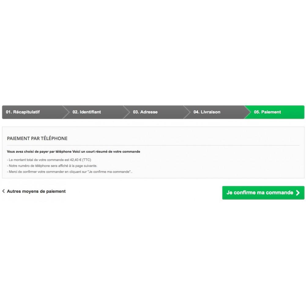 module - Autres moyens de paiement - Payer par téléphone - 4