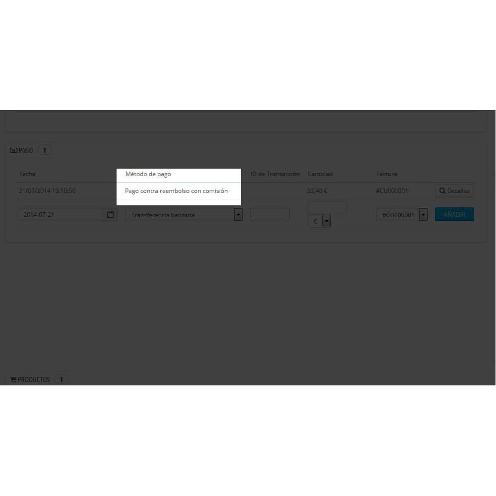 module - Pago a la Entrega (contrarrembolso) - Contra reembolso con recargo (rangos y restricciones) - 5