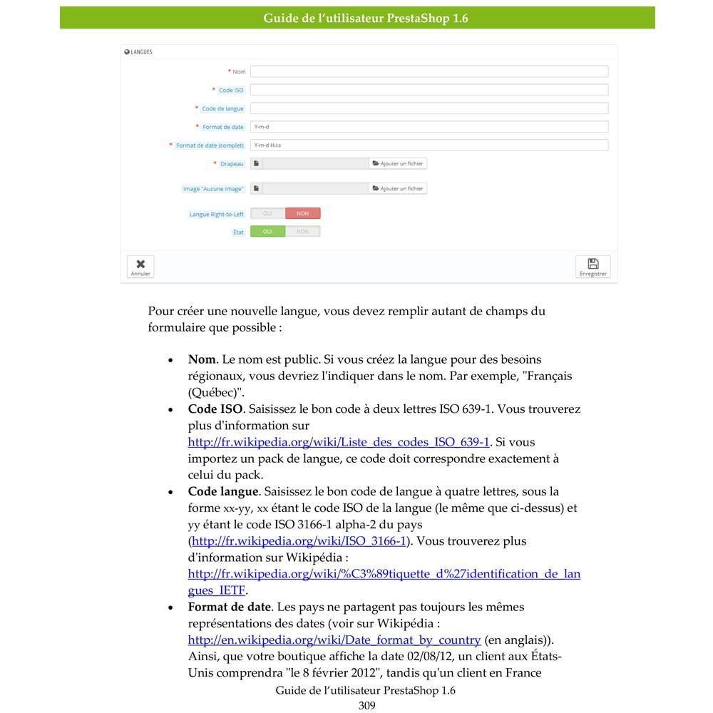other - Guide utilisateur PrestaShop - Guide Utilisateur PrestaShop 1.6 - 3