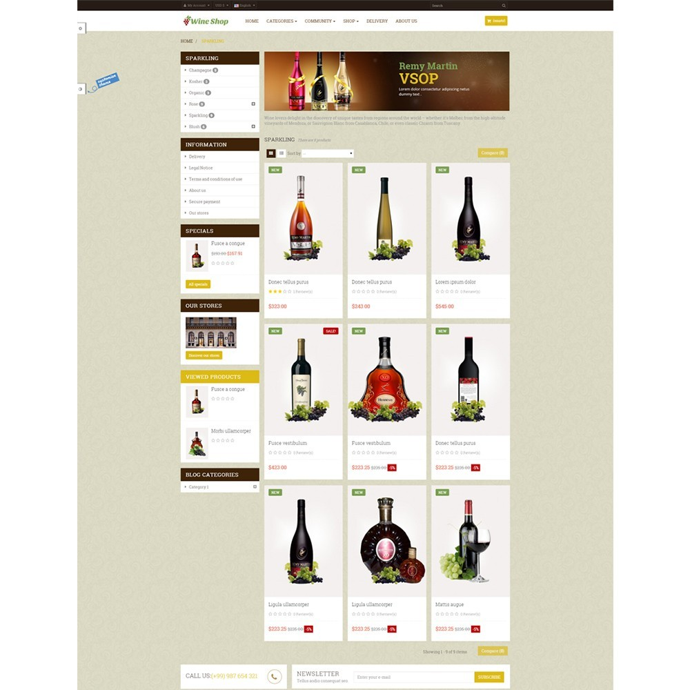 theme - Drink & Tobacco - Leo Wine Store - 3