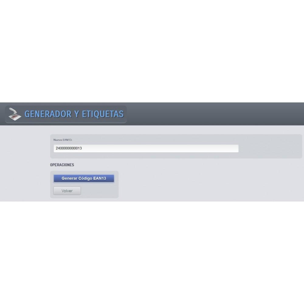 module - Gestión de Stock y de Proveedores - Generador de códigos de barras y EAN13 - 2