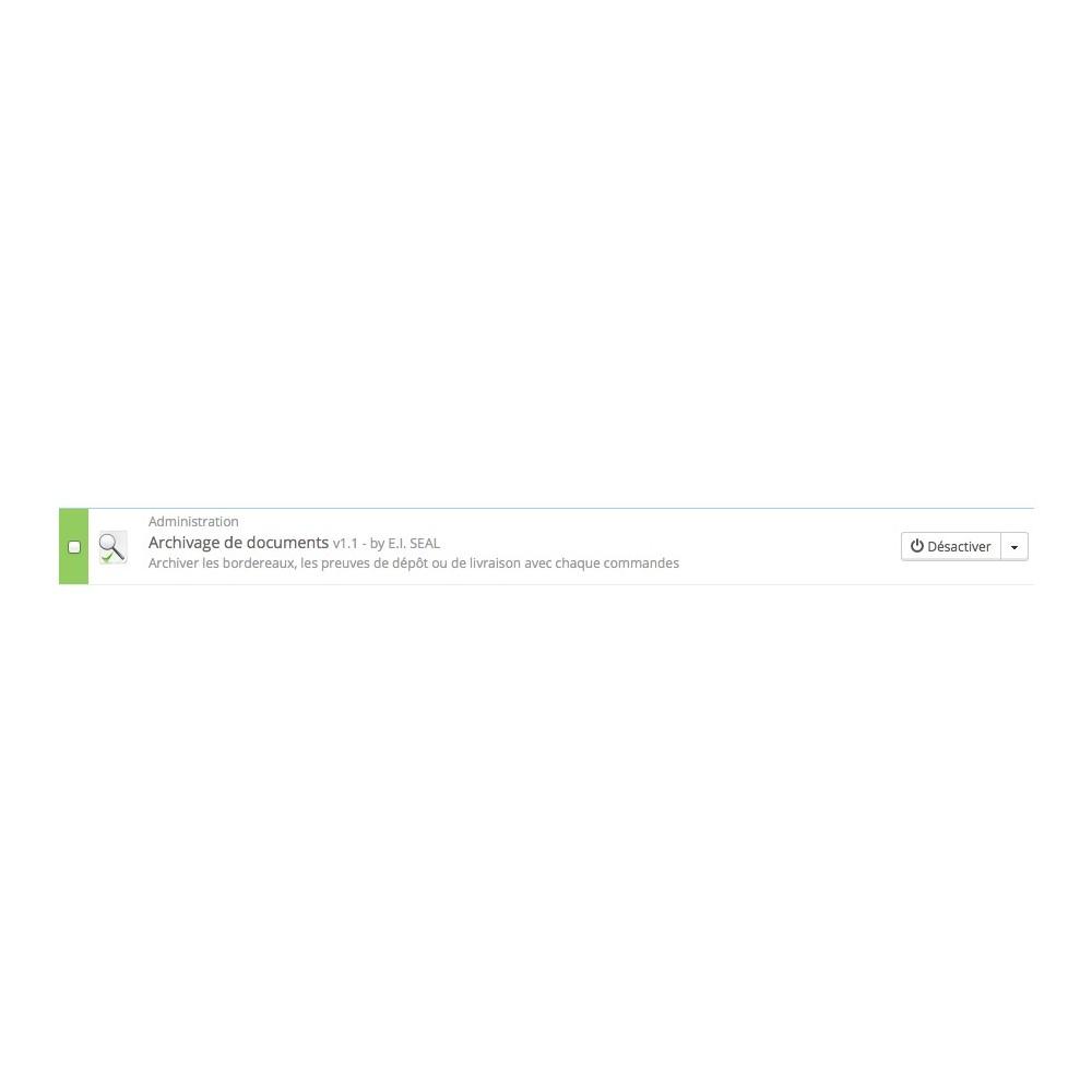 module - Voorbereiding & Verzending - Document Archiving / ArchivDocs - 3