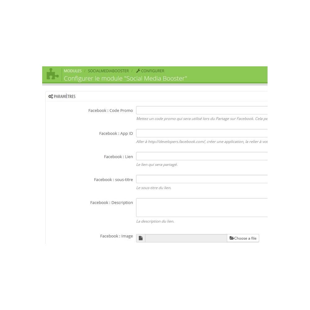 module - Bons de réduction sur les réseaux sociaux - Coupon Social - Augmentez vos followers - 3