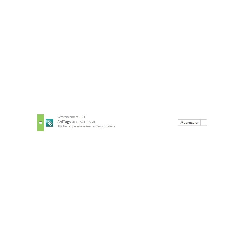 module - SEO (référencement naturel) - Générer, afficher et personnaliser les tags / ArtiTags - 5