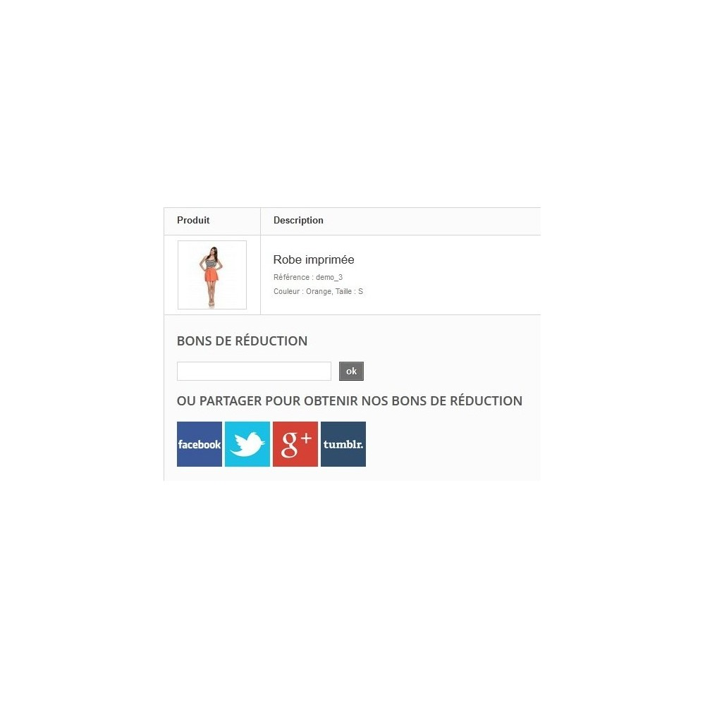 module - Bons de réduction sur les réseaux sociaux - Coupon Social - Augmentez vos followers - 2