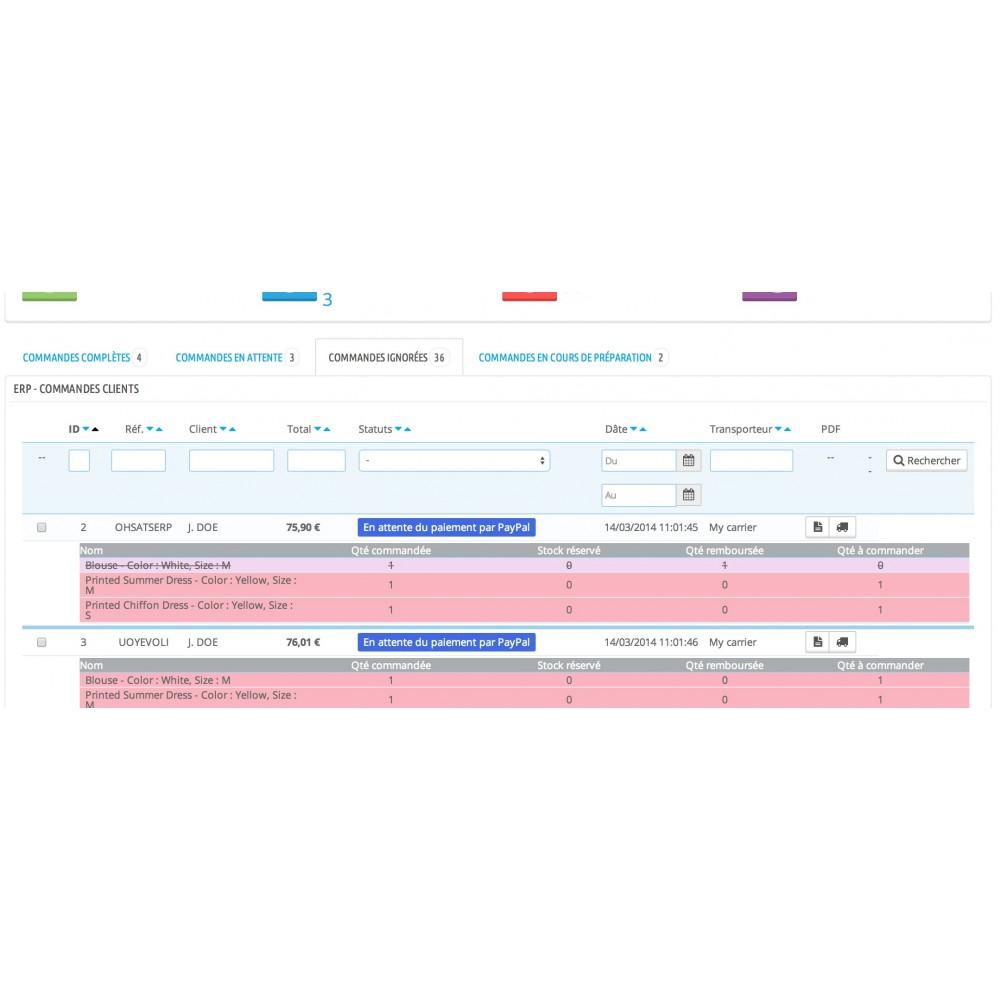 module - Connexion à un logiciel tiers (CRM, ERP...) - My Easy ERP - 11