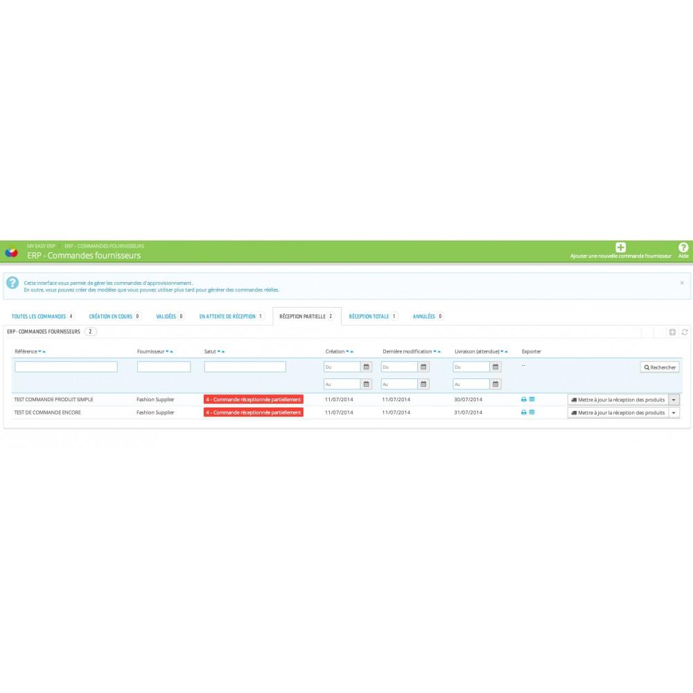module - Connexion à un logiciel tiers (CRM, ERP...) - My Easy ERP - 36