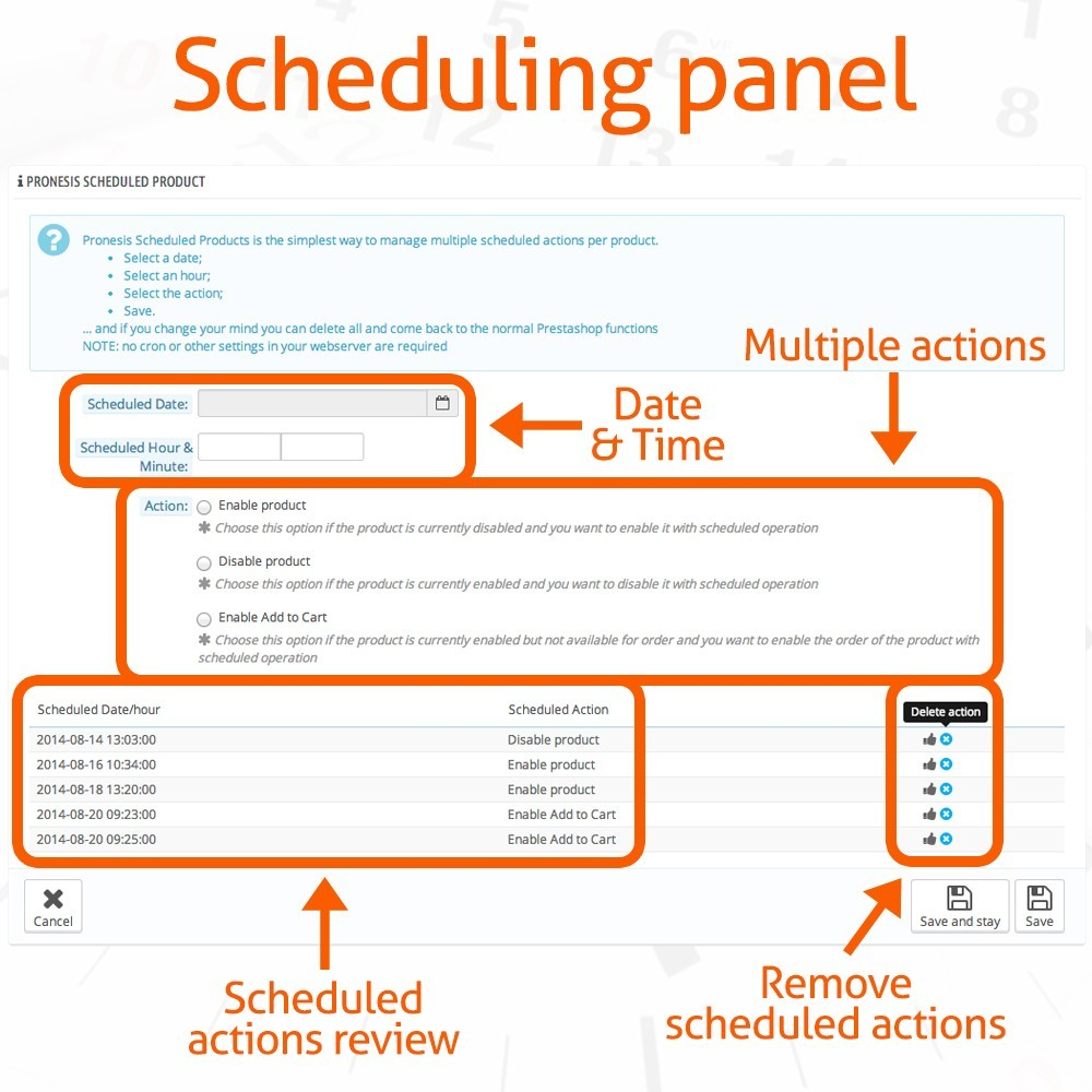 module - Administrationstools - Scheduled Products Publishing Actions - 3