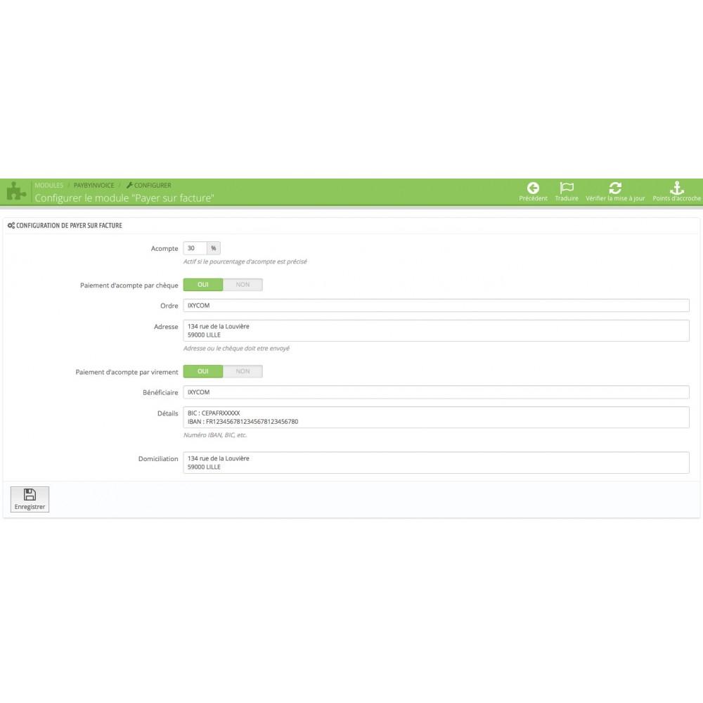 module - Paiement par Facture - Payer par facture avec ou sans acompte - 1