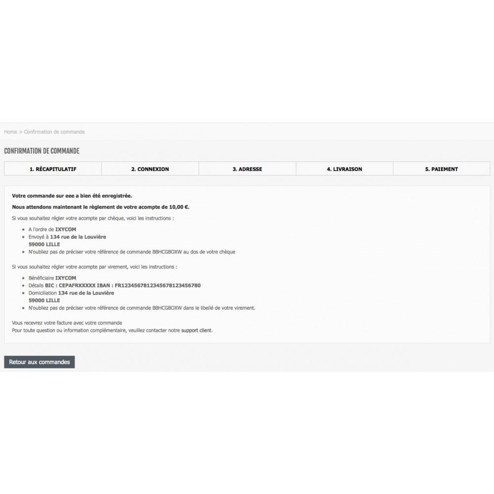 module - Paiement par Facture - Payer par facture avec ou sans acompte - 5