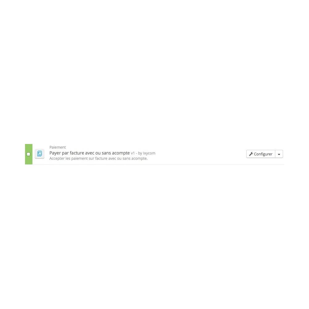 module - Paiement par Facture - Payer par facture avec ou sans acompte - 6