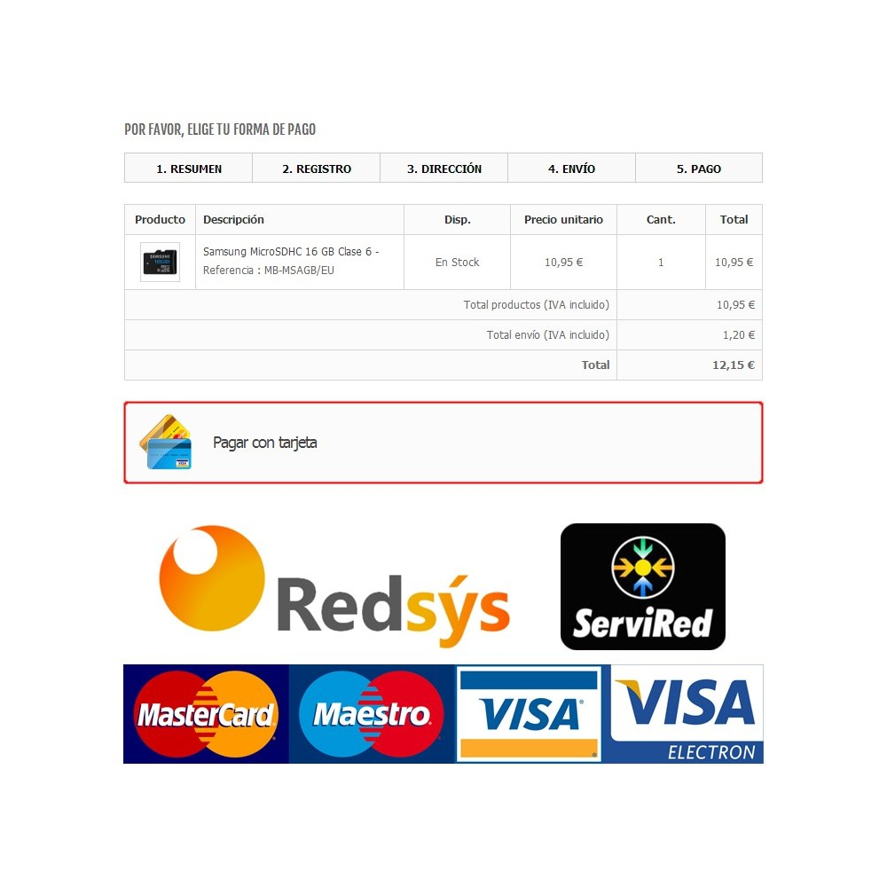 module - Payment by Card or Wallet - Redsys Virtual POS - Card payment (Sermepa / Servired) - 1
