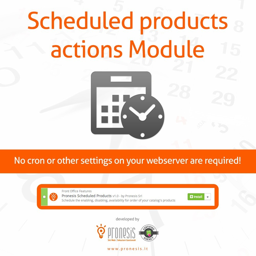 module - Administrationstools - Scheduled Products Publishing Actions - 1