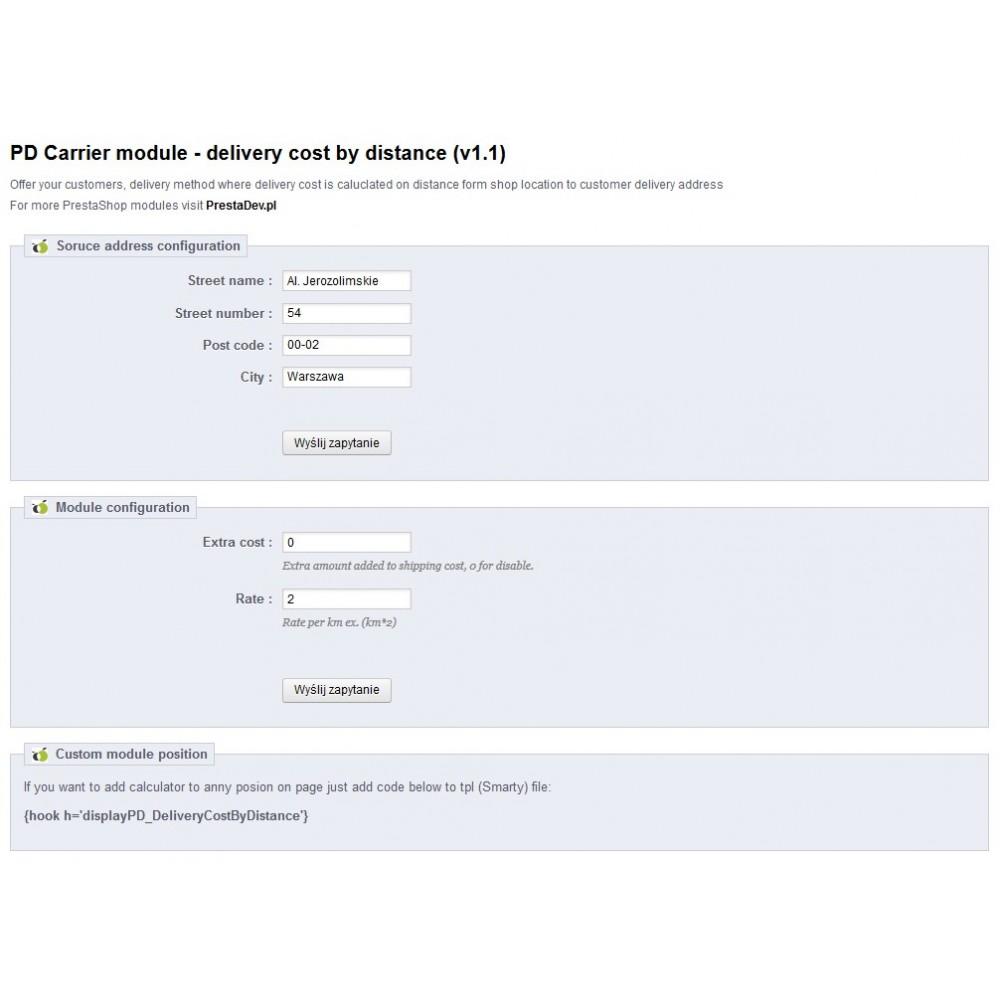 module - Frais de port - Delivery cost by distance - 2