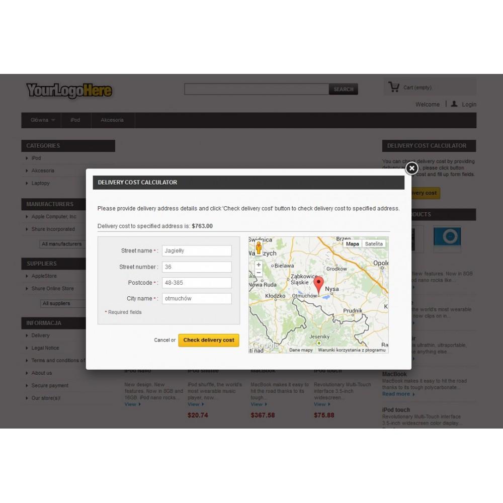 module - Frais de port - Delivery cost by distance - 3