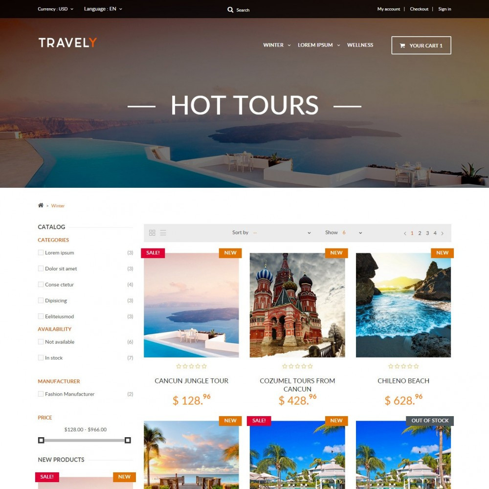 theme - Sports, Activities & Travel - Travely - Travel Shop - 2