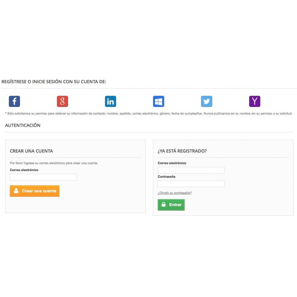 module - Botones de inicio de Sesión/Conexión - Conéctese con redes sociales - 1