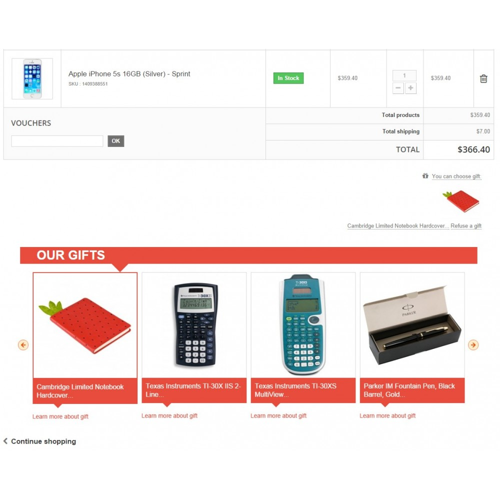 module - Promotion & Geschenke - Gift On Order / Add Free Product to Cart - 1