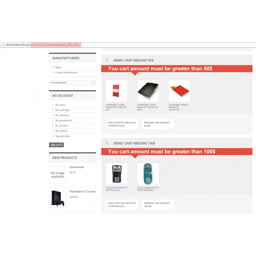 module - Promotion & Geschenke - Gift On Order / Add Free Product to Cart - 8