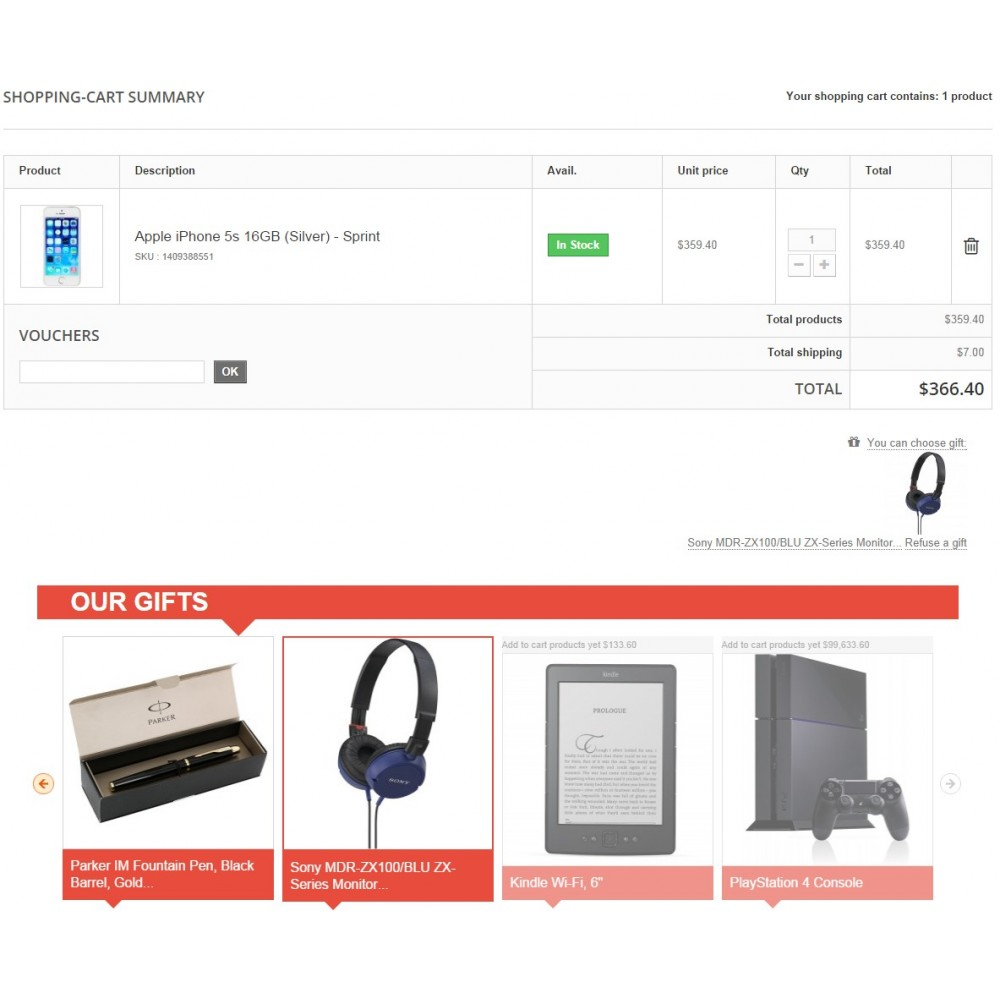 module - Promotion & Geschenke - Gift On Order / Add Free Product to Cart - 10
