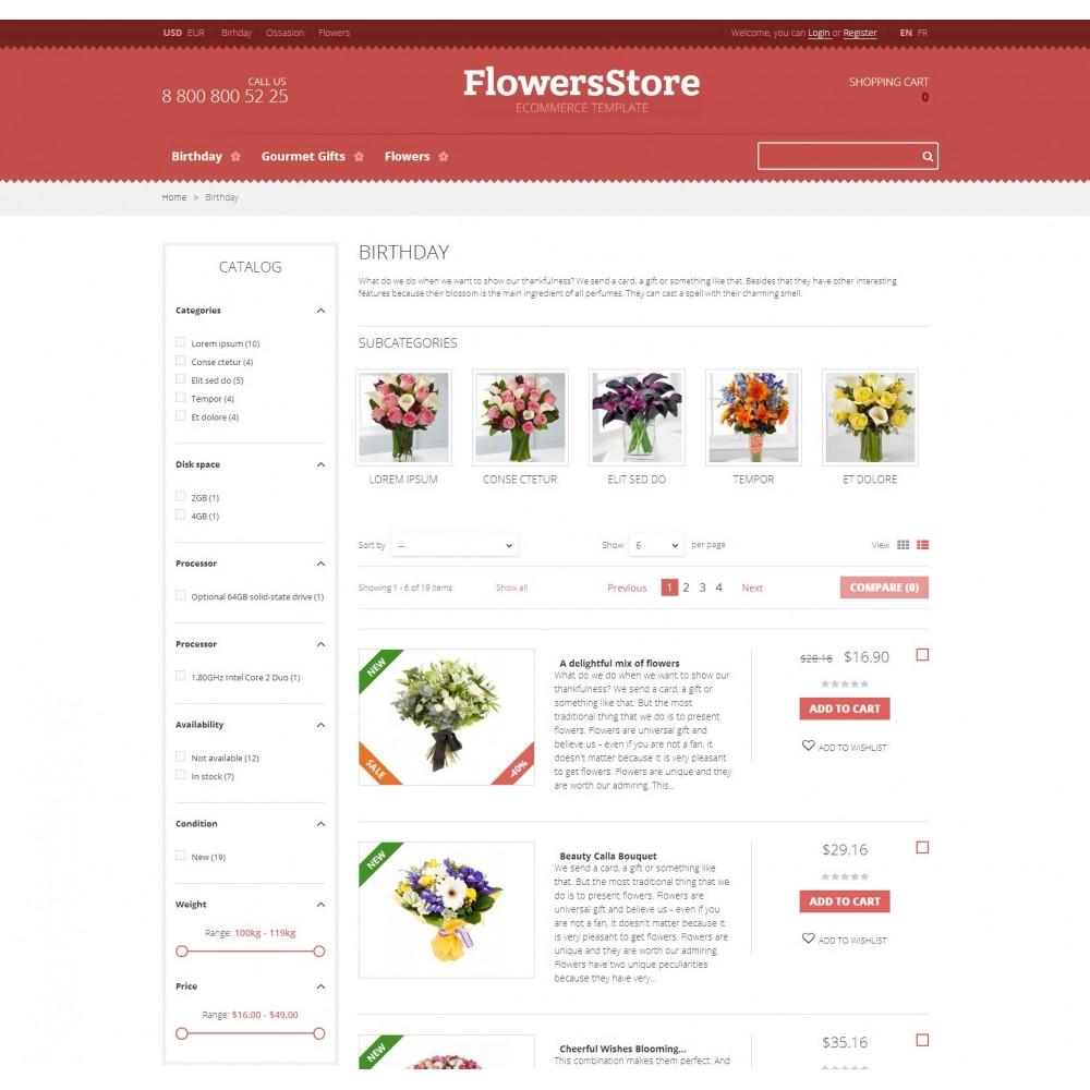 theme - Подарки, Цветы и праздничные товары - Flowers - Магазин Цветов - 3