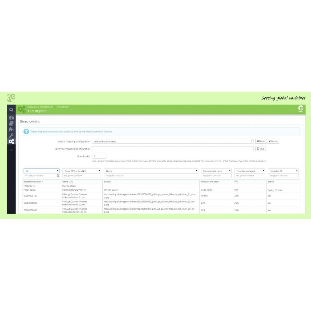 module - Importeren en Exporteren van data - Ajax CSV Product Import - 1