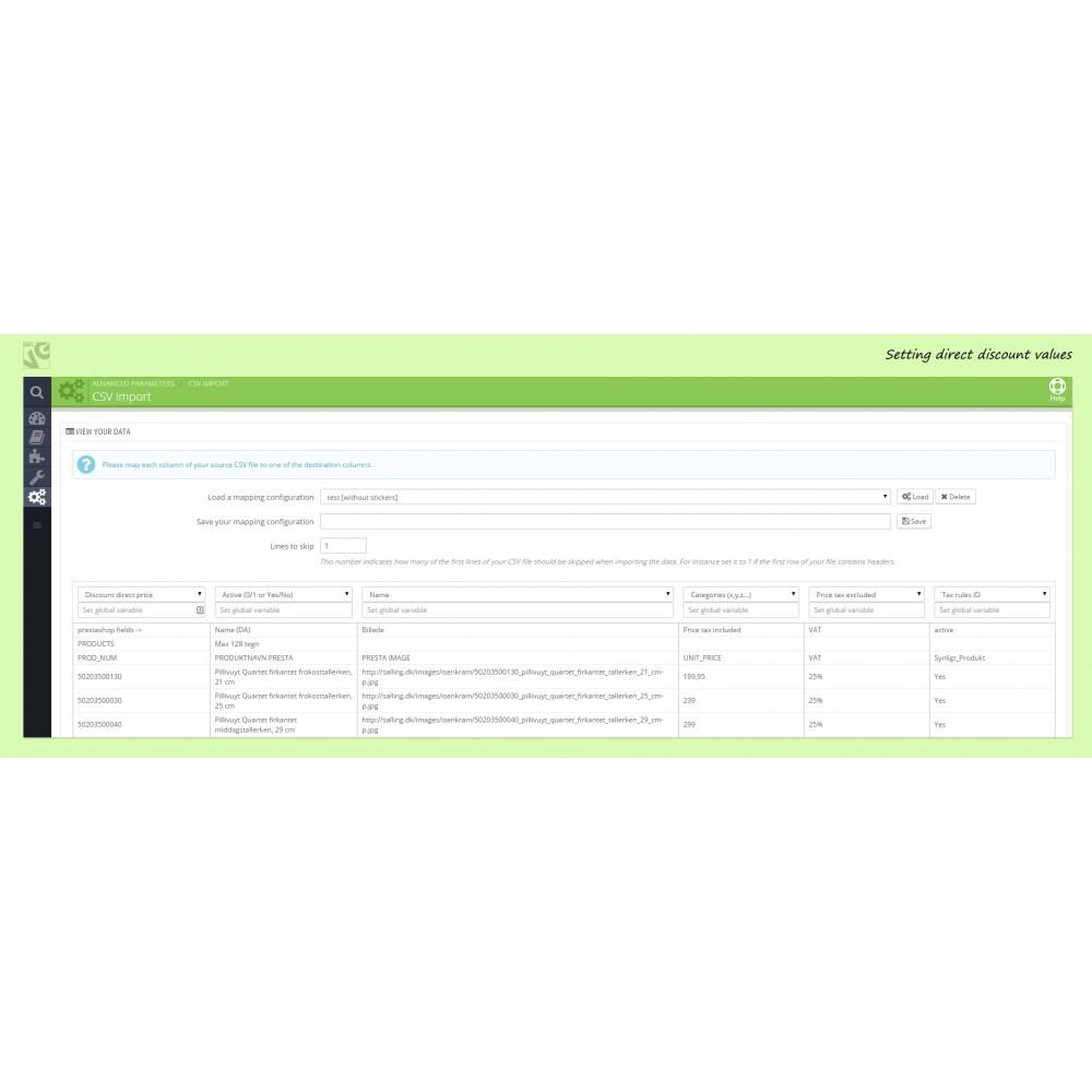 module - Importeren en Exporteren van data - Ajax CSV Product Import - 4