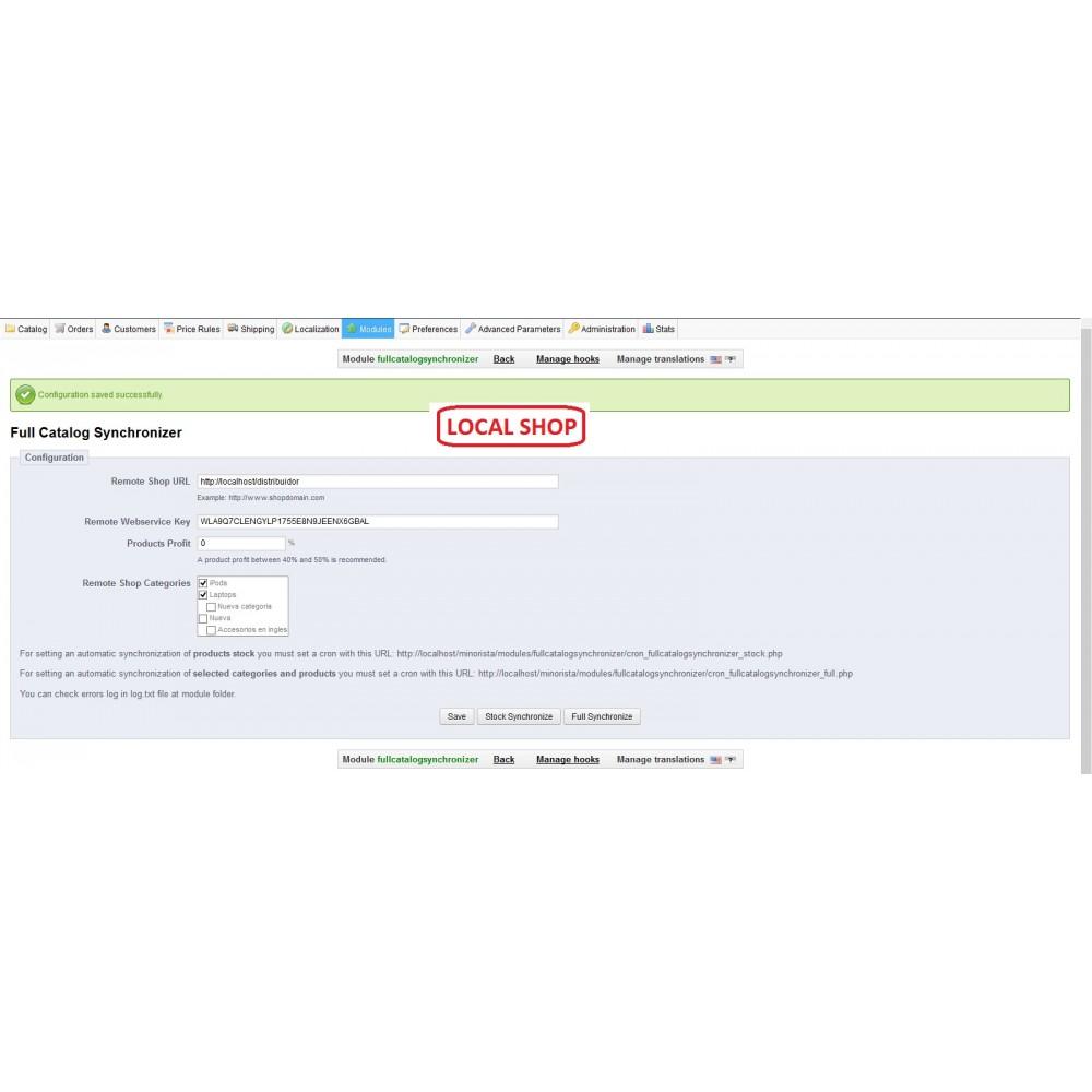 module - Import & Export de données - Full Catalog Synchronizer - 3