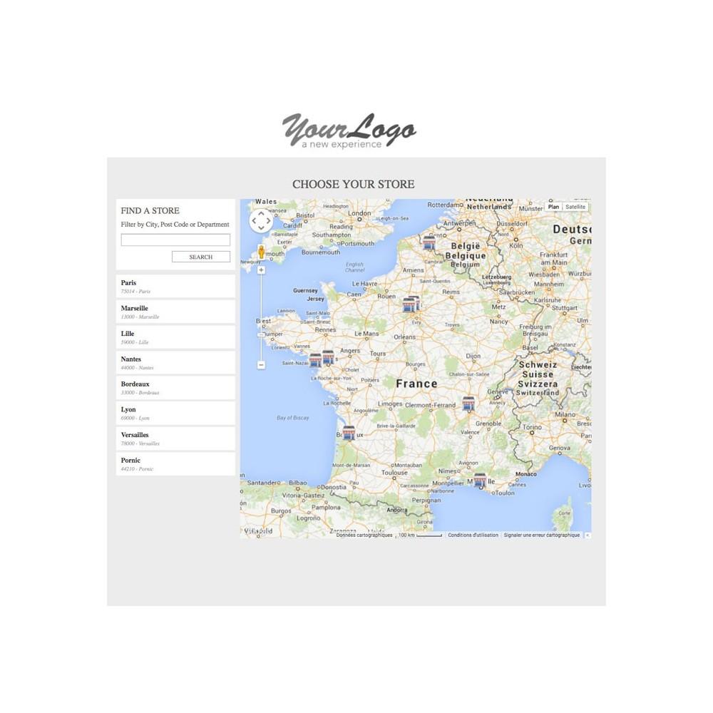 module - Internacionalización y Localización - Shop Selector / Drive - 1