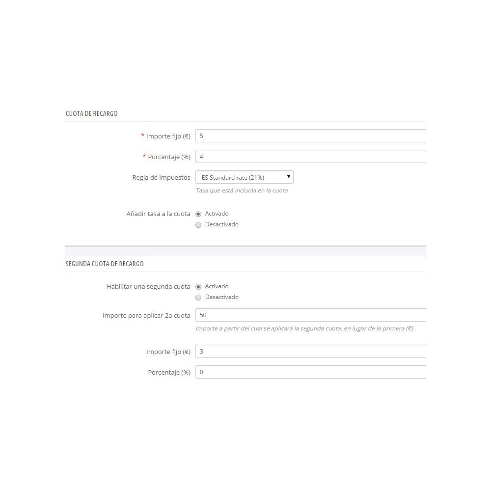 module - Pago a la Entrega (contrarrembolso) - Pago contrareembolso con recargo y limitaciones - 1