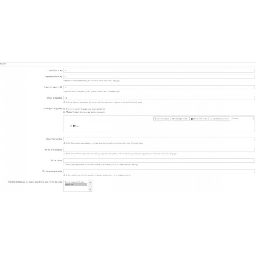 module - Pago a la Entrega (contrarrembolso) - Pago contrareembolso con recargo y limitaciones - 2
