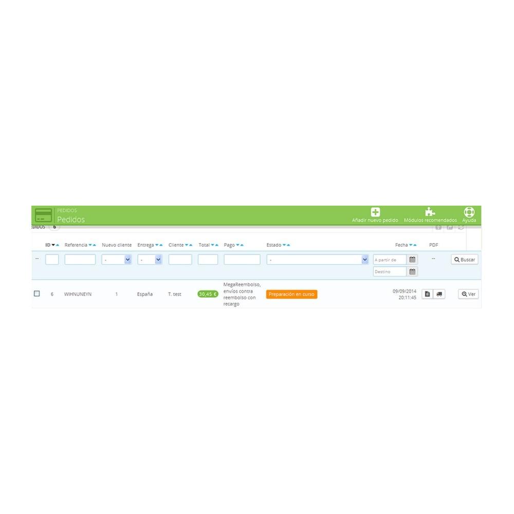 module - Pago a la Entrega (contrarrembolso) - Pago contrareembolso con recargo y limitaciones - 6