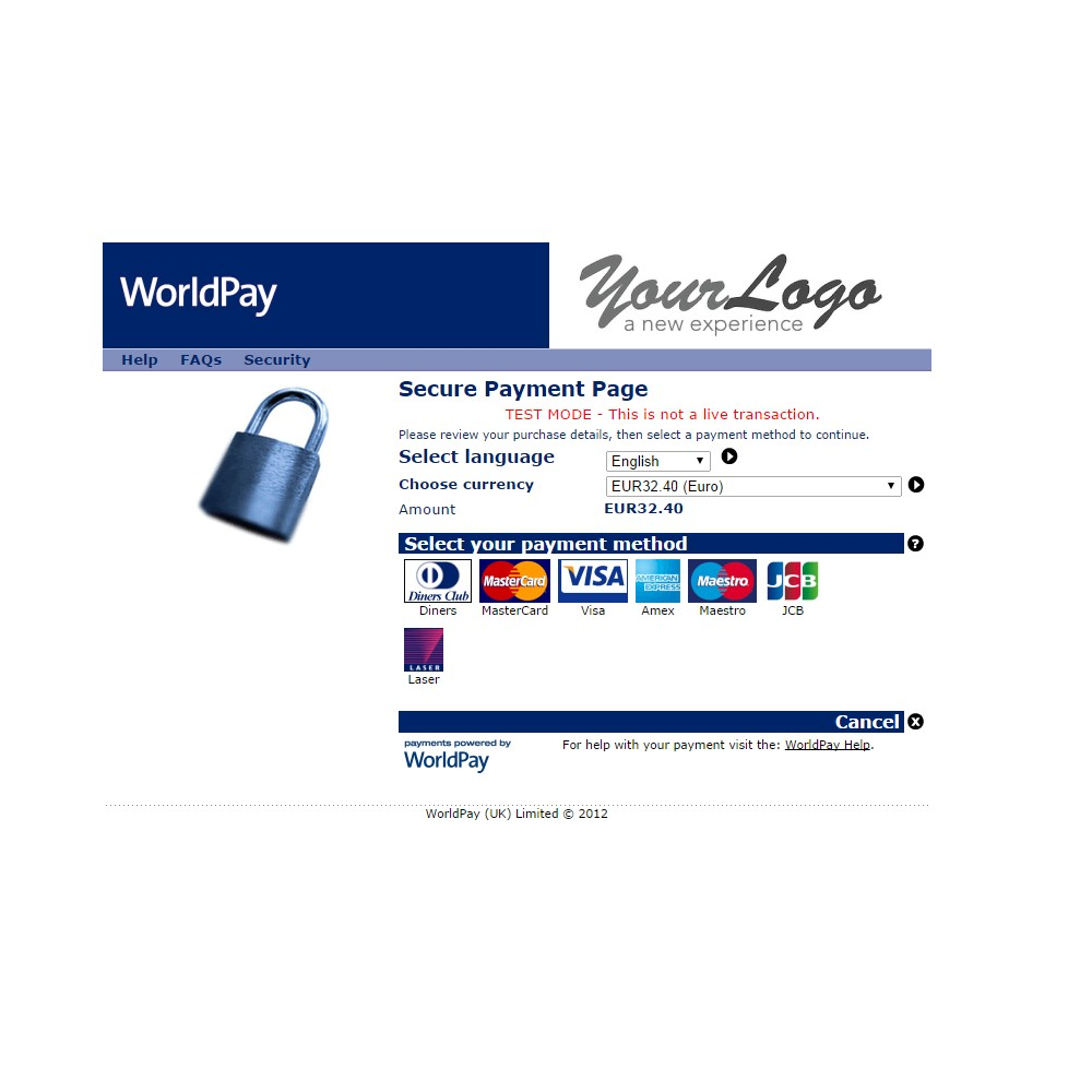 module - Payment by Card or Wallet - WorldPay 1.5, 1.6 & 1.7 - 4