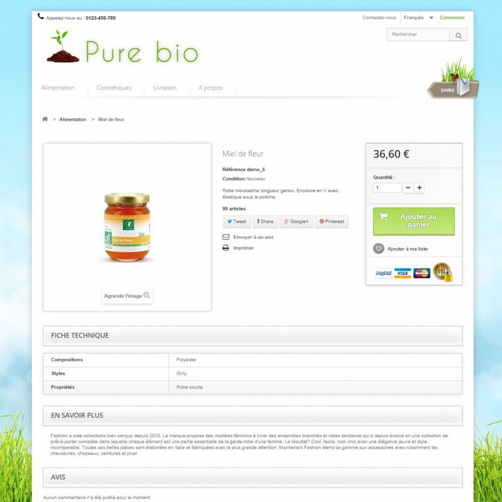 theme - Salute & Bellezza - Pure Bio - 2
