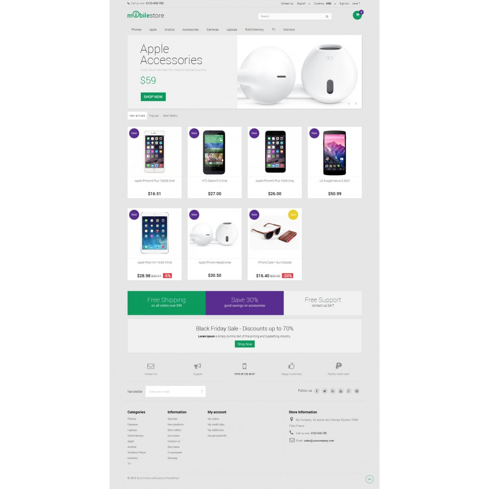 theme - Elektronika & High Tech - Digital Mobile Store Responsive - 2