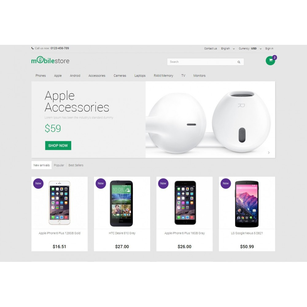 theme - Elektronika & High Tech - Digital Mobile Store Responsive - 3