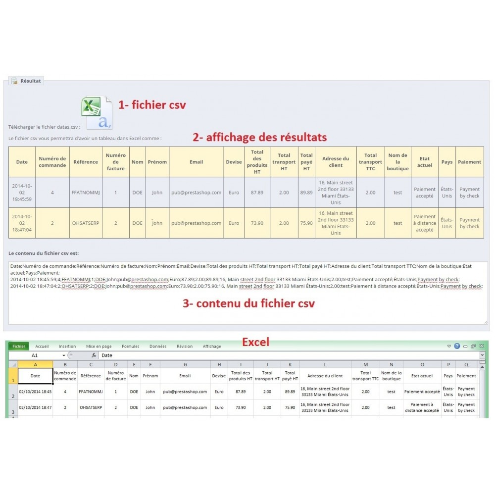 module - Data Import & Export - Export of invoices - 3