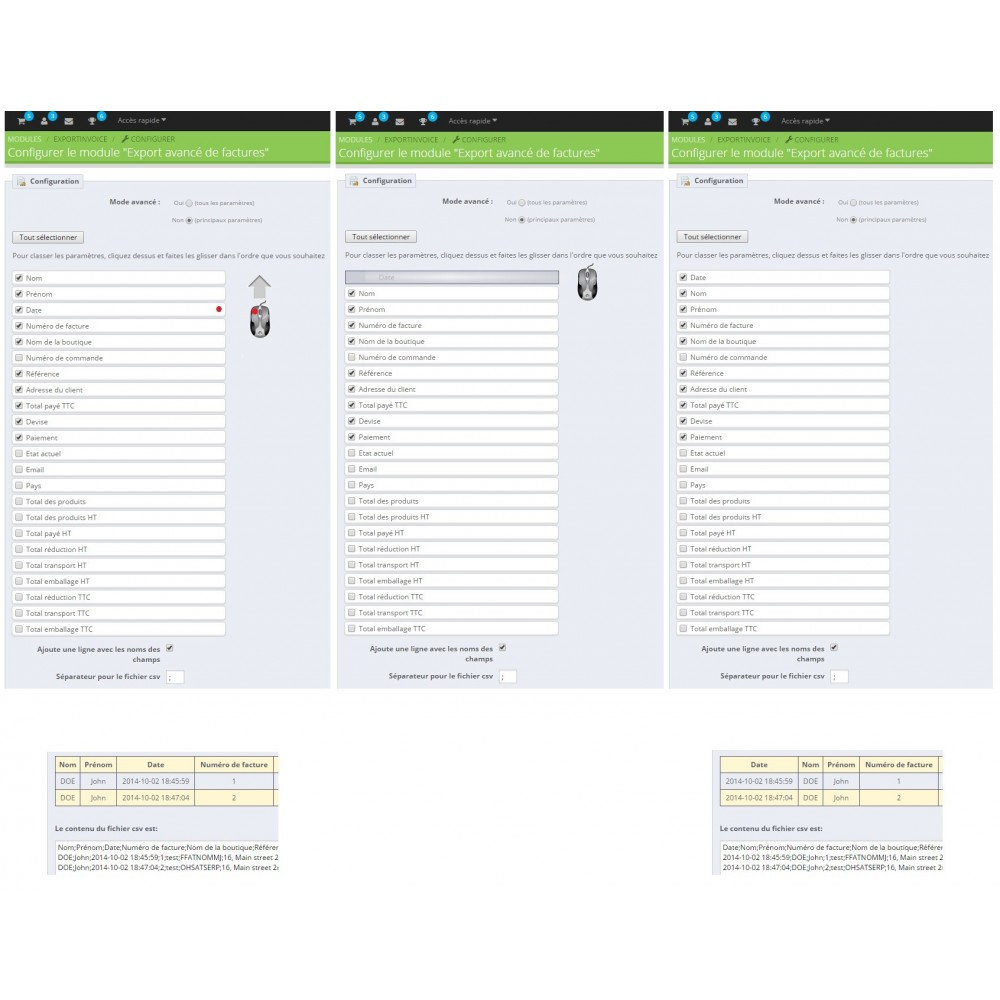 module - Data Import & Export - Export of invoices - 4