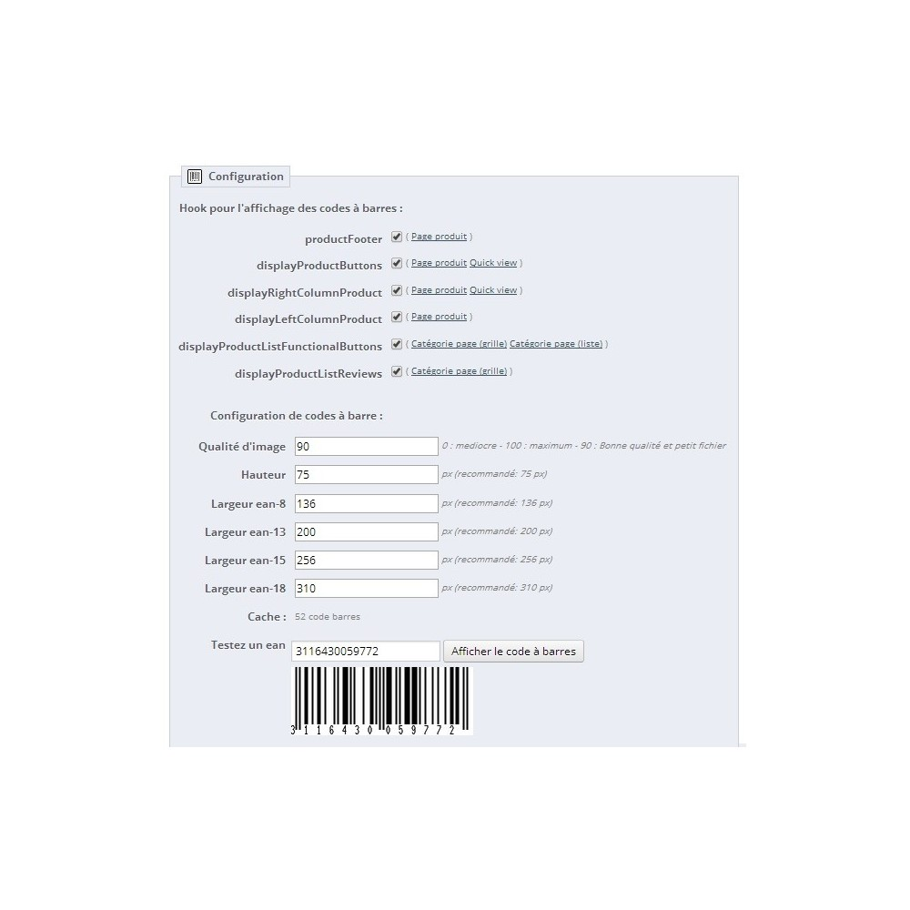 module - Preparation & Shipping - Barcode EAN 8, 13, 15, 18 - 2