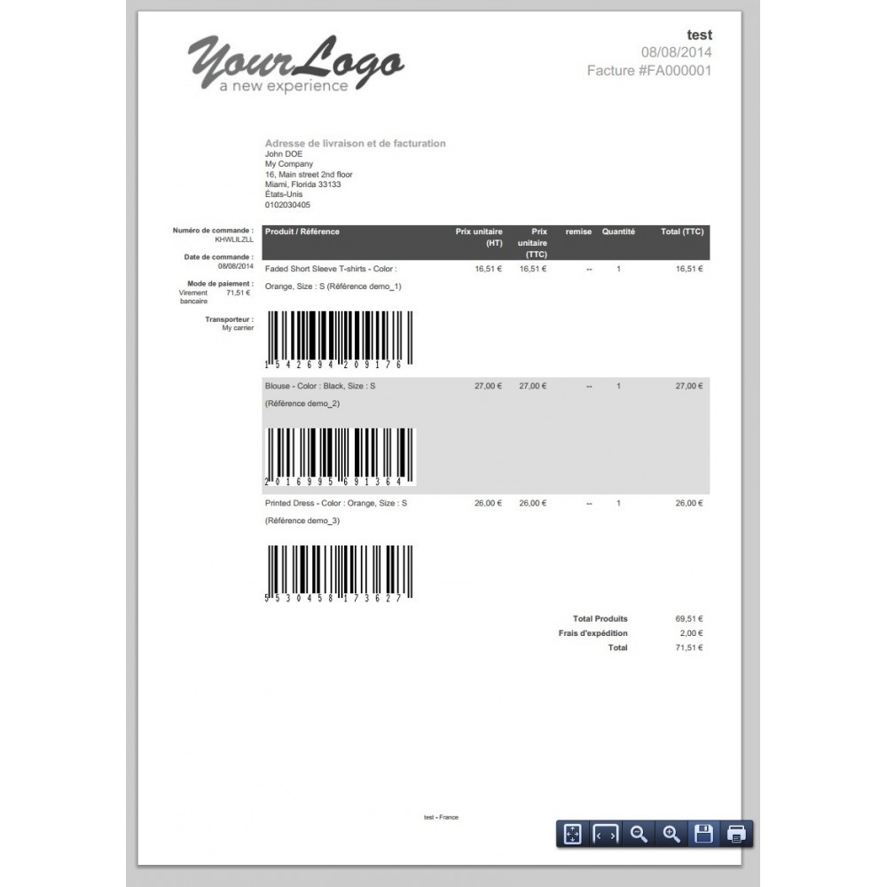 module - Preparation & Shipping - Barcode EAN 8, 13, 15, 18 - 3