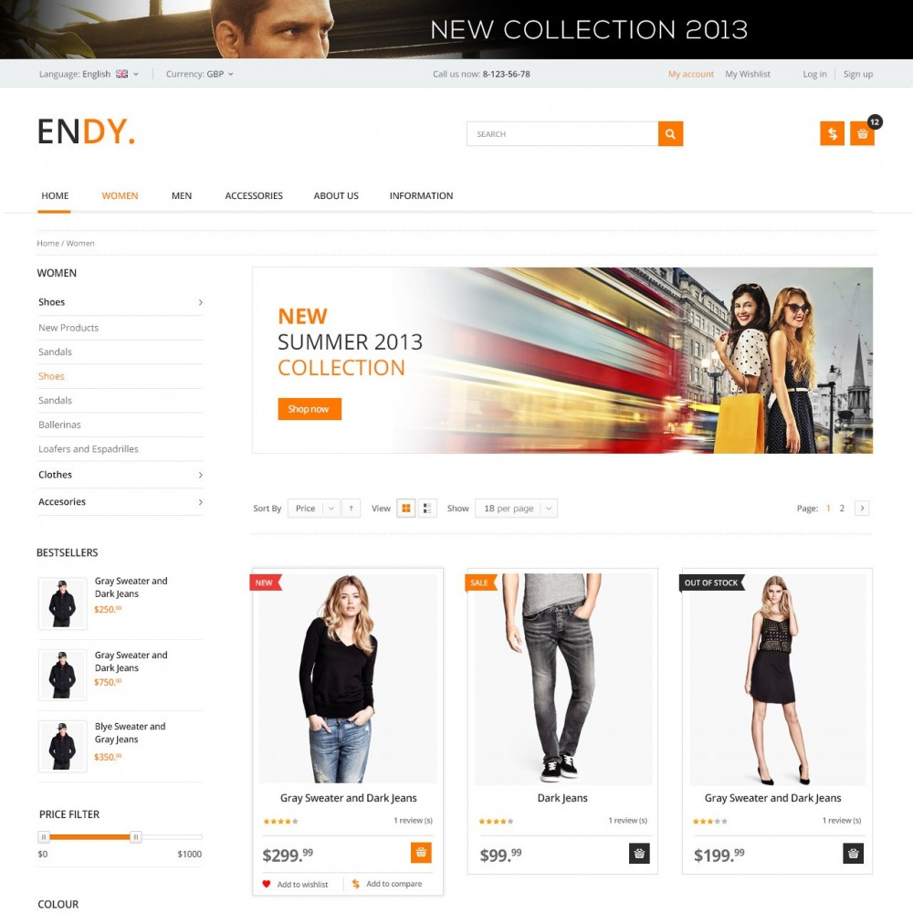 theme - Moda & Obuwie - Endy - Shop of Design Clothes - 2