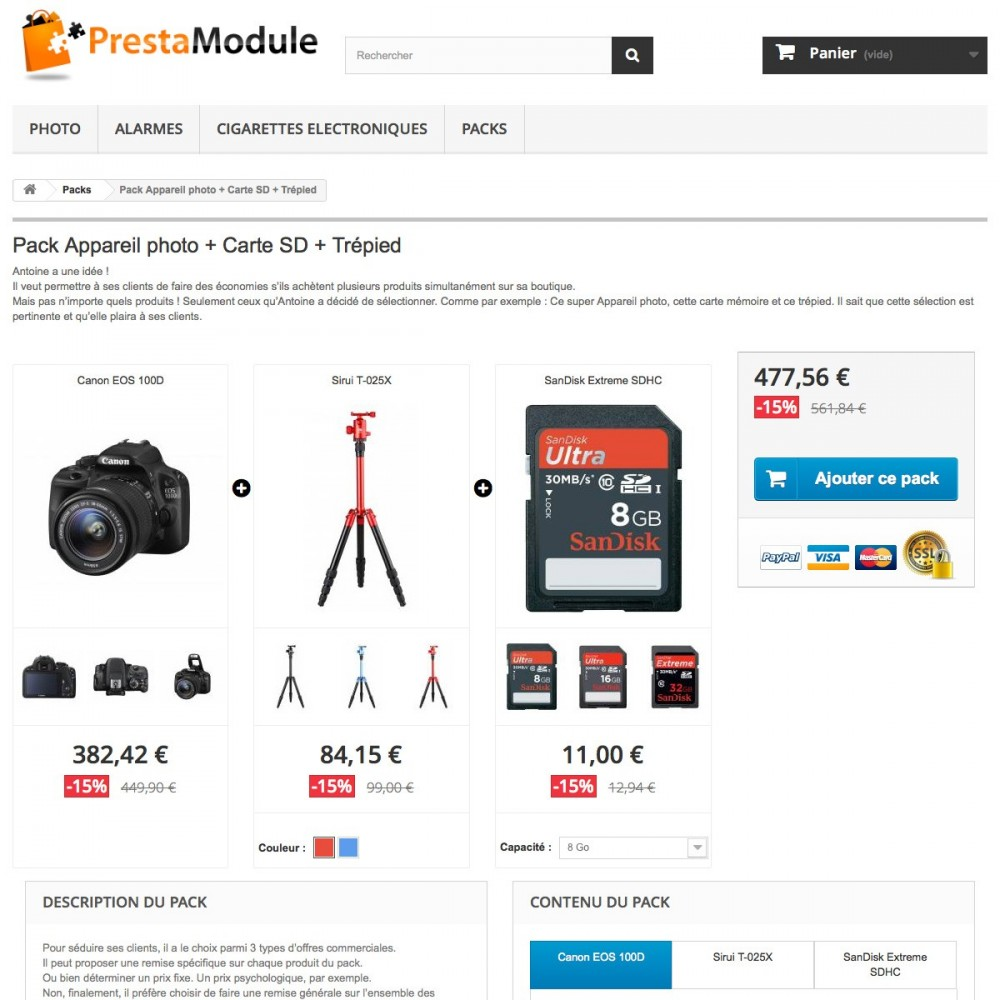 module - Ventes croisées & Packs de produits - Advanced Pack 5 - Vendez des lots de produits - 3