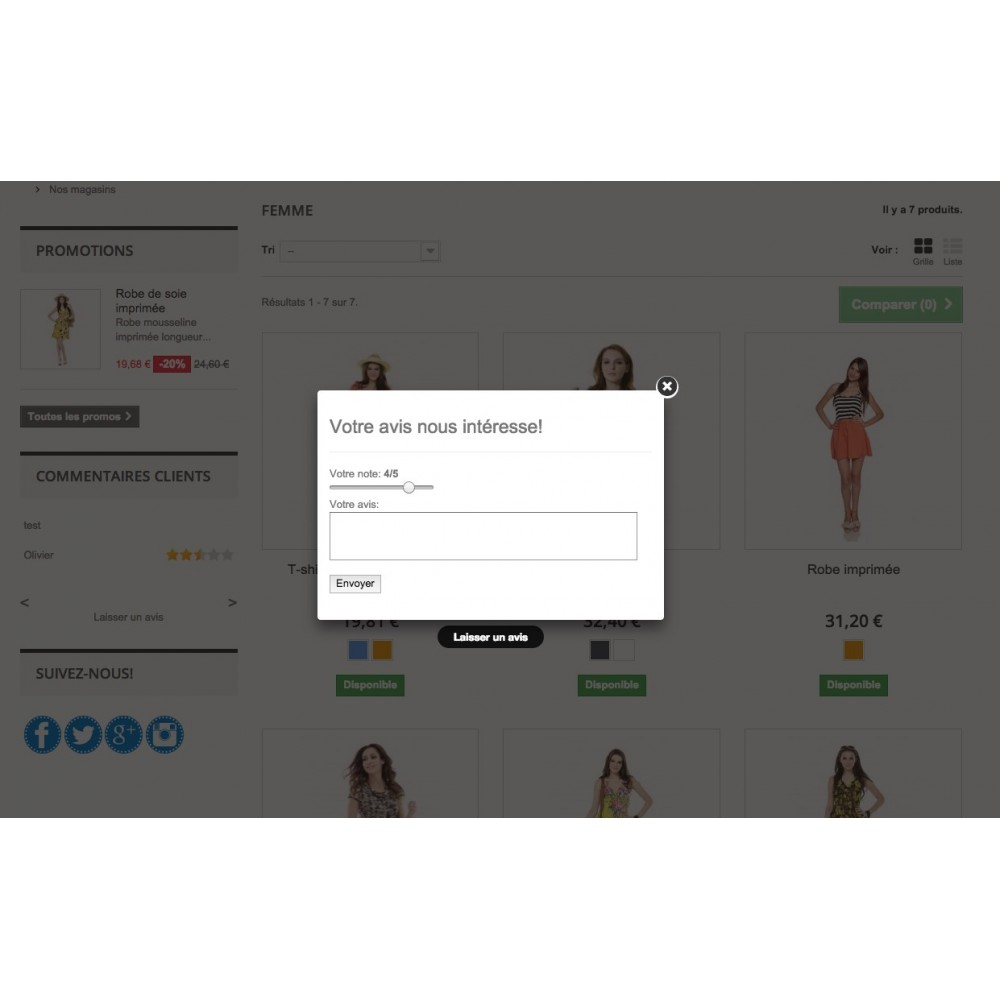 module - Recensioni clienti - Customer Comments - 2